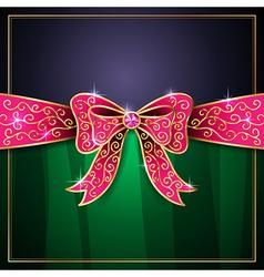 Jewel bow card vector