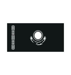 Kazakhstan flag monochrome on white background vector image