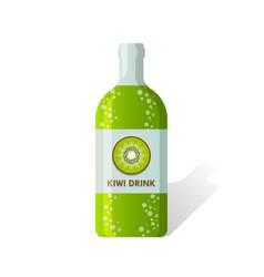 Kiwi drink bottle vector