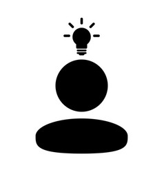 Knowledge icon male person profile avatar symbol vector