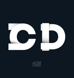 letter c and d template logo design vector image