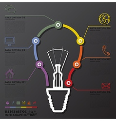 Light Bulb Connection Timeline Business vector image