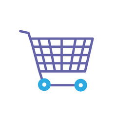 line technology shopping car to buy online vector image