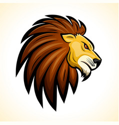 lion head mascot concept vector image