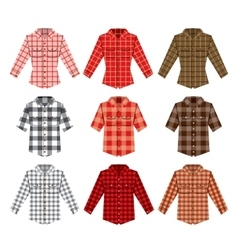 Lumberjack check shirt lumberjack old fashion vector image
