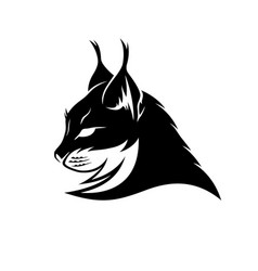 lynx black sign vector image