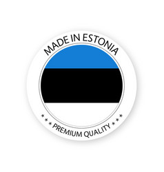 Modern made in estonia label estonian sticker vector