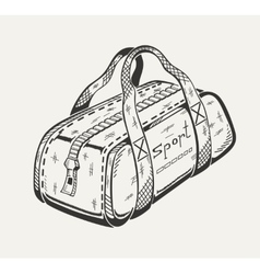 Monochrome of sports bag vector image