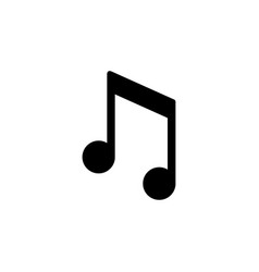 music note glyph icon and concept vector image