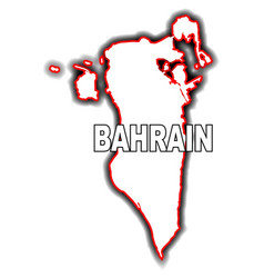 Outline map of bahrain vector