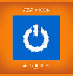 Power button - halftone logo vector