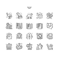 Qatar well-crafted pixel perfect icons vector