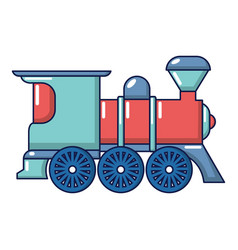 Railway icon cartoon style vector