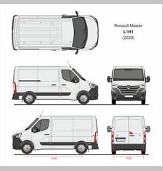Renault master cargo delivery van l1h1 2020 vector
