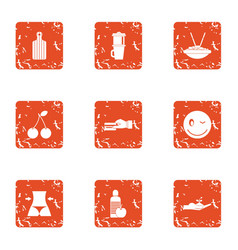 Repayment icons set grunge style vector