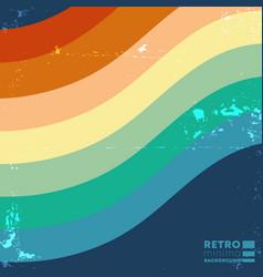 Retro design background with vintage color stripes vector