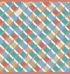 retro pattern rhombus shapes mosaic banner vector image