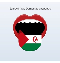 Sahrawi Arab Democratic Republic language vector