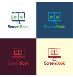 screen book logo and icon vector image