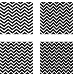 Set of seamless zigzag pattern vector