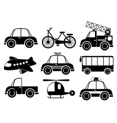 Set of transport vehicles vector image