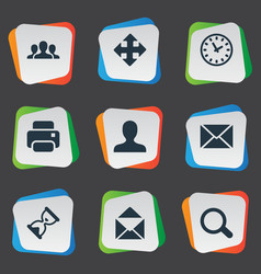 Set simple apps icons vector