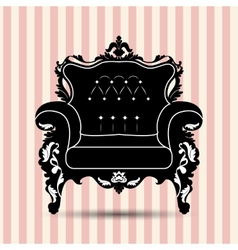 silhouette of armchair vector image