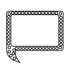 Silhouette rectangle chat bubble icon vector