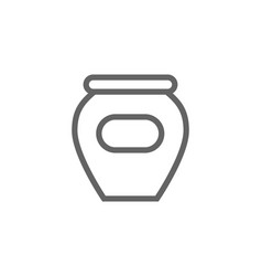 simple honey and jam pot line icon symbol and vector image