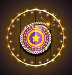 stylish design of diwali vector image