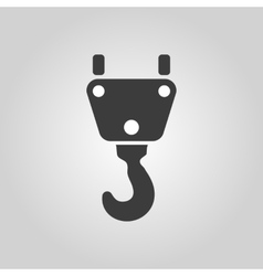 The crane hook icon Building and lifting symbol vector image