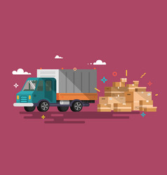 truck shipping cargo delivery vector image