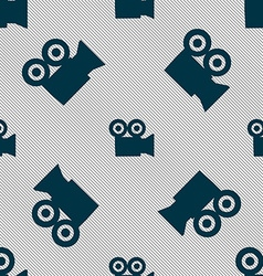 video camera icon sign Seamless pattern with vector image