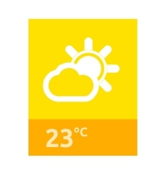 Weather Web Element Banner Design vector