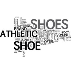 What you should know about athletic shoe text vector