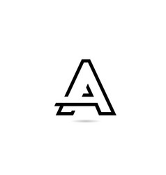 White and black a alphabet letter logo icon for vector