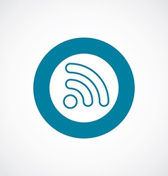 Wifi icon bold blue circle border vector