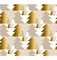 Xmas tree luxury pastel color seamless pattern vector
