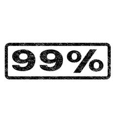 99 percent watermark stamp vector