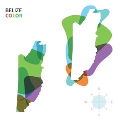 Abstract color map of Belize vector image vector image