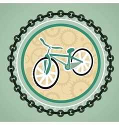 card with bicycle vector image vector image