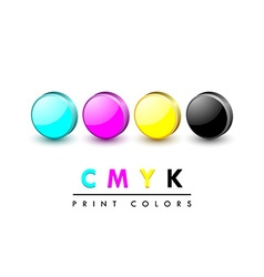 Cmyk icons vector image vector image
