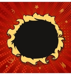 Comic book hole boom explosion vector image vector image