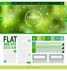 Flat web site design Ecology background vector image