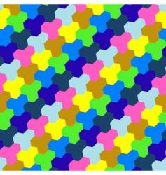 geometric tiled background vector image