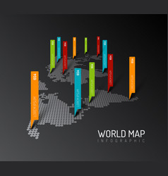 light world map with droplets pointer marks vector image vector image