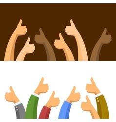 Thumbs Up Symbols Set vector image
