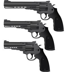 set of pistols vector image vector image