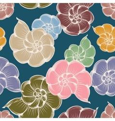 Shells pattern vector image