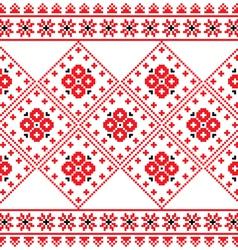 Ukrainian Eastern European folk art pattern vector image vector image